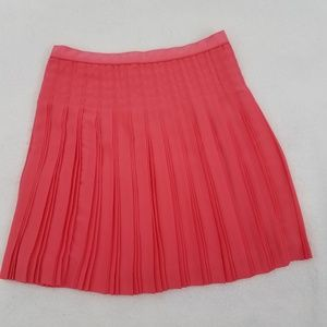 J Crew Skirt 2 Pink  A-line Stitched Down Pleated